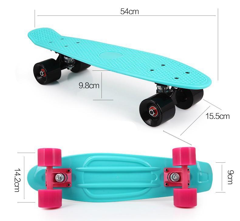 2015 New Multicolor peny board skateboards Complete Retro elektroscooter Mini Longboard Skate Fish Skateboard Free Shipping – Flash Skates