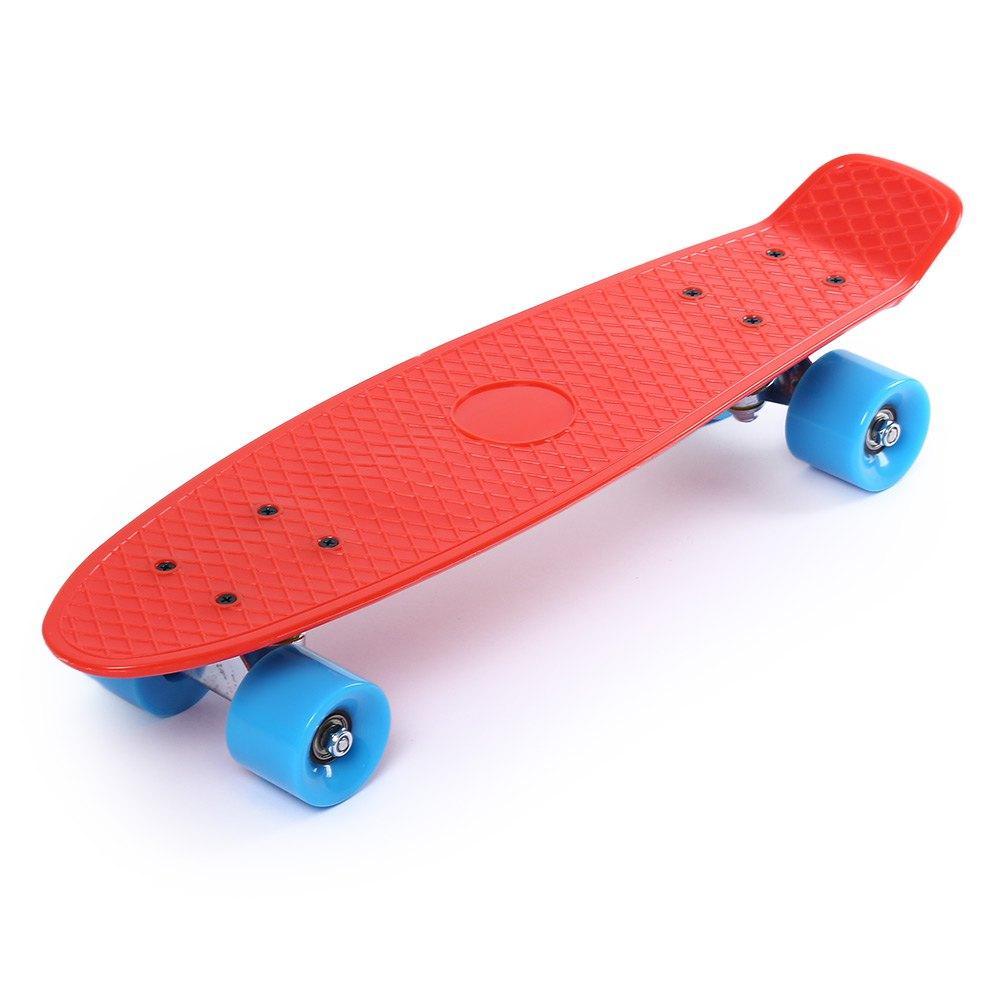 22 Inches Four-wheel Skateboard 5 Colors Street Freestyle Cool Shock Resistant Long Skate Board Mini Cruiser Fish Banana Board – Flash Skates