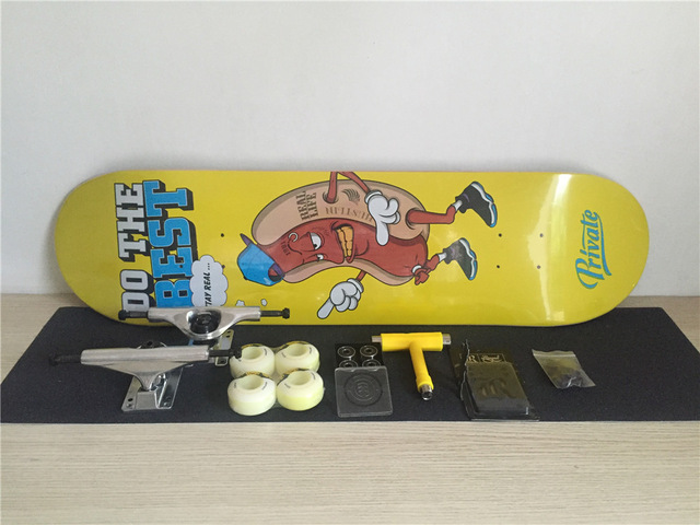 Complete Skateboards Set Private Deck Ruckus Trucks ...