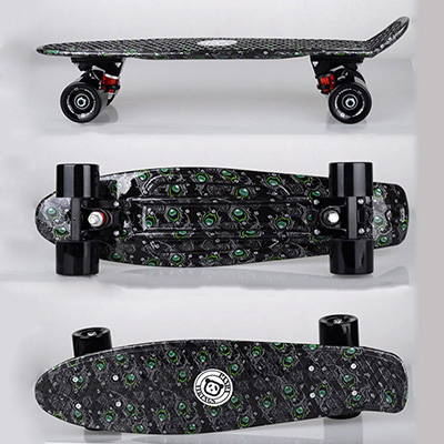 free shipping printed 22 lightweight complete skateboard durable