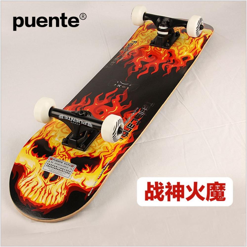 QualityCanadian Maple Graffiti SkateBoard 78.5 19.5 10cm LongBoard men girl  DoubleRocker Monopatin street skate Limit skateboard – Flash Skates 303d00e738a