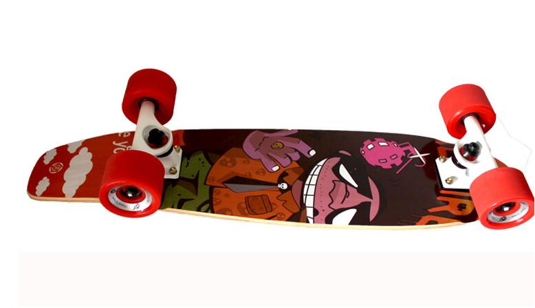 27 inches skate four wheel street long skate board freestyle cool