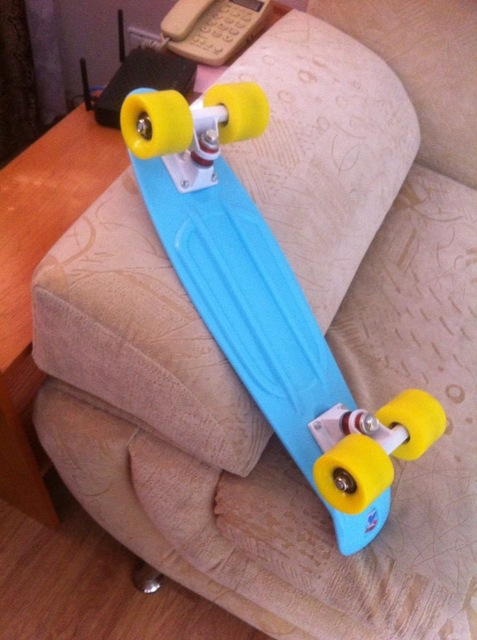 CHI YUAN Mint Plastic Mini Cruiser Skateboard 22