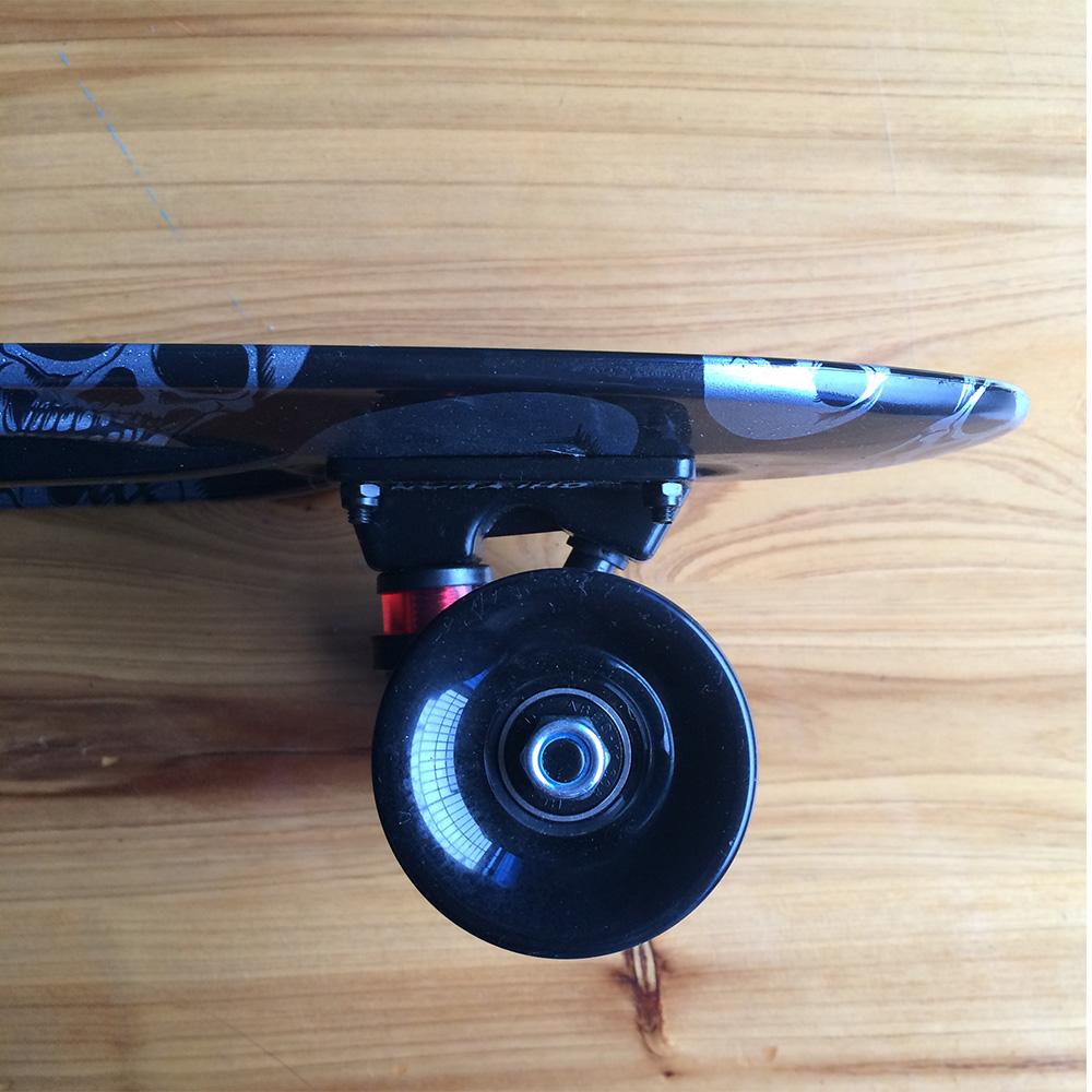 chi yuan plastic skateboard mini cruiser 22 x 6 retro longboard skate long board skull graphic. Black Bedroom Furniture Sets. Home Design Ideas